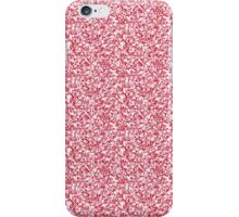 Girly Pink Faux Glitter iPhone Case/Skin