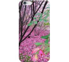 fall colors in pink iPhone Case/Skin