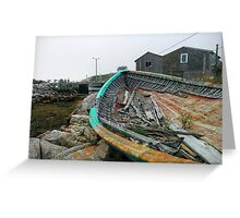lonely old fishing boat Greeting Card