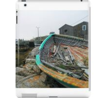 lonely old fishing boat iPad Case/Skin