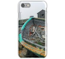 lonely old fishing boat iPhone Case/Skin