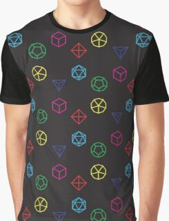 CMYK Rainbow Dice Geometry Graphic T-Shirt