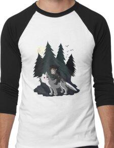 The White Wolf - Cute Style (No Blood) Men's Baseball ¾ T-Shirt