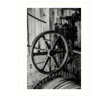 Antique Engine, Logging Museum, Algonquin Park Art Print