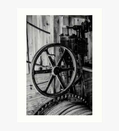 Antique Engine, Logging Museum, Algonquin Park Art Print