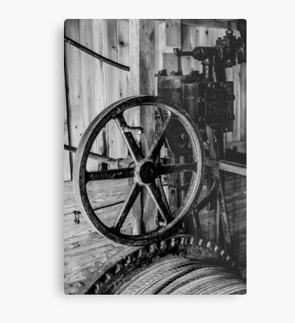 Antique Engine, Logging Museum, Algonquin Park Metal Print