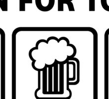 Swimming Beer Get Lucky Funny Shirt Sticker