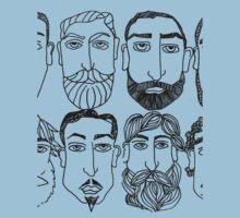 Beards. (plural) Kids Tee