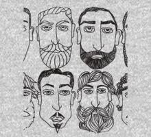 Beards. (plural) One Piece - Short Sleeve