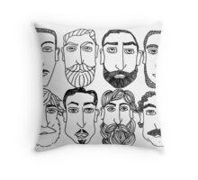 Beards. (plural) Throw Pillow