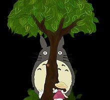 Totoro & Mei play Hide & Seek. by nooriginalnames
