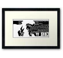 Spike Cowboy bebop Black Framed Print