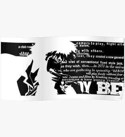 Spike Cowboy bebop Black Poster