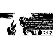 Spike Cowboy bebop Black Photographic Print