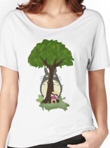 Totoro & Mei play Hide & Seek. Women's Relaxed Fit T-Shirt