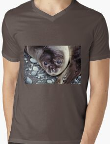Babies, Nose to Tail. Southern Elephant Seal Pups, Macquarie Island  Mens V-Neck T-Shirt