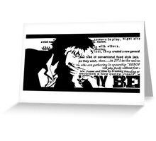 Spike Cowboy bebop White Greeting Card