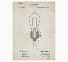 Edison Light Bulb Invention US Patent Art T-Shirt