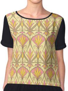 Art Nouveau Floral Pattern Chiffon Top
