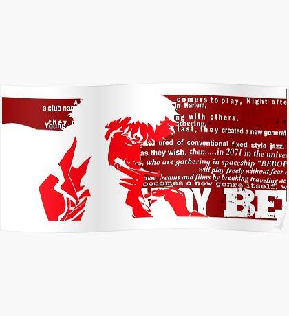 Spike Cowboy bebop Red Poster