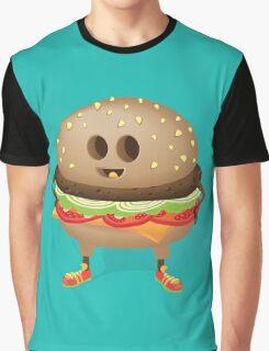 Happy Hamburger Graphic T-Shirt