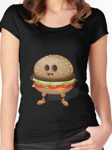 Happy Hamburger Women's Fitted Scoop T-Shirt