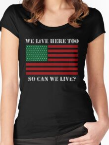 Can We Live? Women's Fitted Scoop T-Shirt