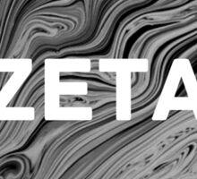 zeta marble print Sticker