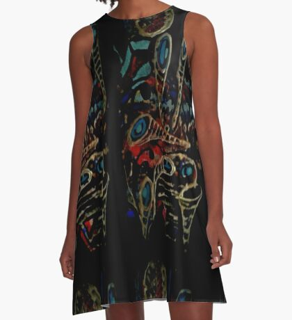 the bright side of the volcano A-Line Dress