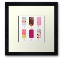 Yummy icecreams Framed Print