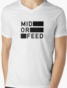 Mid Or Feed Mens V-Neck T-Shirt