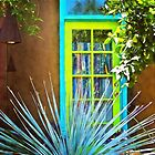 Blue/Green Window by Linda Gregory