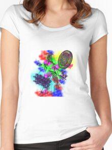 Midna Splash Paint Women's Fitted Scoop T-Shirt