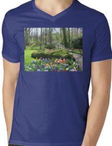 Little Bridge - Keukenhof Gardens Mens V-Neck T-Shirt