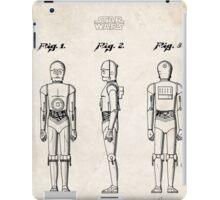 Star Wars C3PO Robot US Patent Art iPad Case/Skin