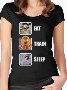 Eat, Train, Sleep (Deadlift) Women's Fitted Scoop T-Shirt