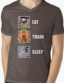 Eat, Train, Sleep (Deadlift) Mens V-Neck T-Shirt