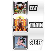 Eat, Train, Sleep (Deadlift) Poster