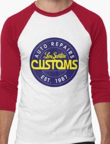 Los Santos Customs logo Men's Baseball ¾ T-Shirt