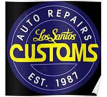 Los Santos Customs logo Poster