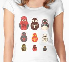 nesting spiders Women's Fitted Scoop T-Shirt