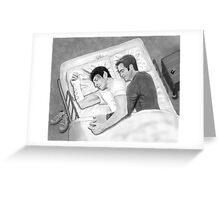 Kirk and Spock Sleeping Greeting Card