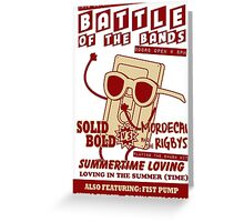 Summertime Battle of the Bands Greeting Card