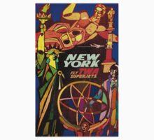"""TWA"" Fly to New York Travel Print Kids Tee"