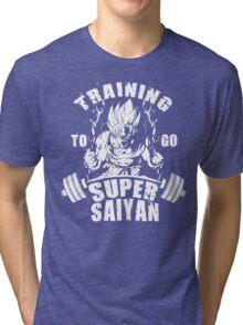 Training To Go Super Saiyan (Goku) Tri-blend T-Shirt