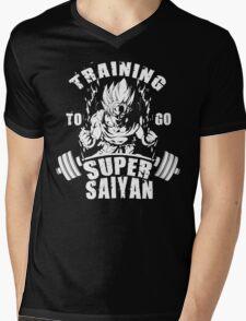 Training To Go Super Saiyan (Goku) Mens V-Neck T-Shirt