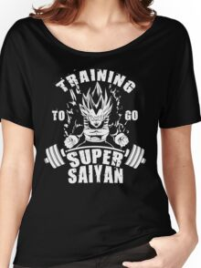 Training To Go Super Saiyan (Vegeta) Women's Relaxed Fit T-Shirt