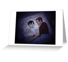Kirk and Spock Sleeping Night Version Greeting Card