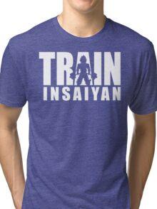 TRAIN INSAIYAN (Iconic Deadlift) Tri-blend T-Shirt