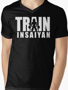 TRAIN INSAIYAN (Iconic Deadlift) Mens V-Neck T-Shirt